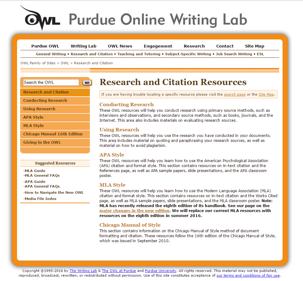 informative essay purdue owl Informative writing provides facts instead of persuading the purdue owl: essay informative writing techniques 6 expository essays 7 expository.
